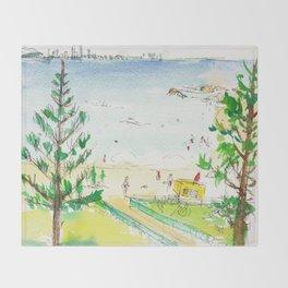 Rainbow Bay, Qld. Australia Throw Blanket