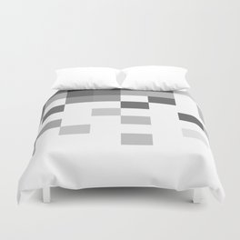Gray Scale In Pixels Duvet Cover