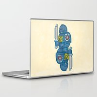 warhammer Laptop & iPad Skins featuring Space Marine - Warhammer 40k by M. Gulin