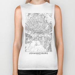 Johannesburg White Map Biker Tank