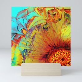 Sunflower Abstract Mini Art Print