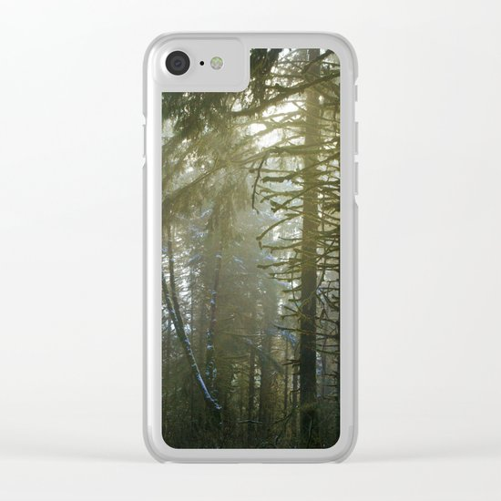 Foggy Forest #evergreen Clear iPhone Case