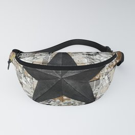 Rustic star on wood frame Fanny Pack