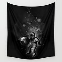 diver Wall Tapestries featuring Deep Sea Space Diver by Nicklas Gustafsson