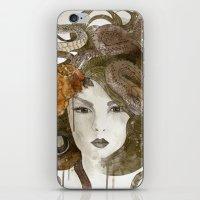 medusa iPhone & iPod Skins featuring Medusa by Marine Loup