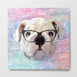 Singing Bulldog Metal Print