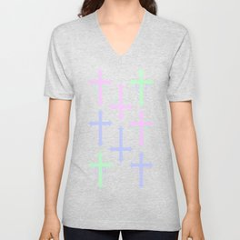 Crosses with Beads Unisex V-Neck