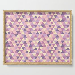 Pastel Pink Geometric Art Serving Tray