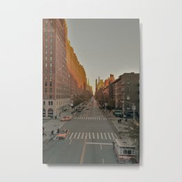 The Yellow Muted City (Color) Metal Print