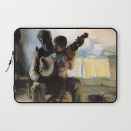 African American Masterpiece 'The Banjo Lesson' by Henry Ossawa Tanner Laptop Sleeve