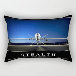 Stealth: Inspirational Quote and Motivational Poster Rectangular Pillow