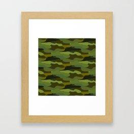 Khaki camouflage Framed Art Print