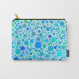 Turquoise Dots Carry-All Pouch