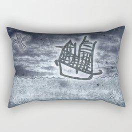 Fragata a la vista! Rectangular Pillow
