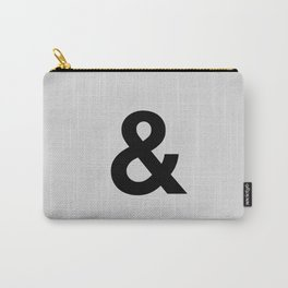 Ampersand black and white monochrome Helvetica typography poster design home wall bedroom decor Carry-All Pouch