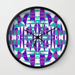 Purple And Teal Shape Shift Wall Clock