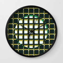 Green Exclusion Wall Clock