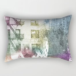 N.Y. collage color burst Rectangular Pillow