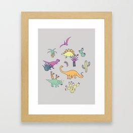 Dinosaur Desert Framed Art Print