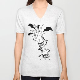 Electric Gang Signs! (B&W) Unisex V-Neck
