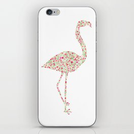 Flamingo Floral Watercolor iPhone Skin
