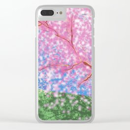 Sylveon and cherry blossom tree Clear iPhone Case
