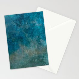 Blue Gray grunge | Grungy | Blue coral | Grunge Decor Stationery Cards