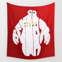 baymax Wall Tapestries featuring baymax by pokegirl93
