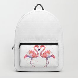 Pink Flamingo Love Two Flamingos Backpack