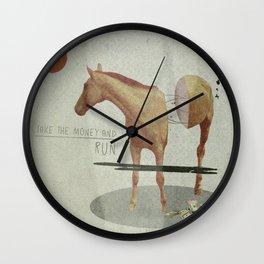 Take The Money and Run Wall Clock