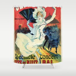 1890 Jardin De Paris Night Party Shower Curtain