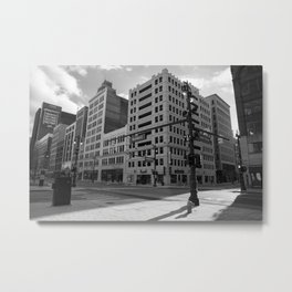 Woodward and Grand River Intersection Metal Print
