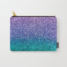 Lavender Purple & Teal Glitter Carry-All Pouch
