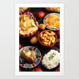 Potato Foods Art Print
