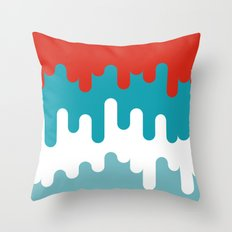 Drips and Drops - Smurf Throw Pillow