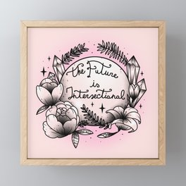 The Future Is Intersectional Framed Mini Art Print