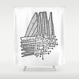 Armada Abstract Shower Curtain