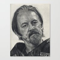 sons of anarchy Canvas Prints featuring Chibs (Sons of Anarchy) by scottmitchell