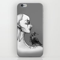crow iPhone & iPod Skins featuring Crow by Sam Pea