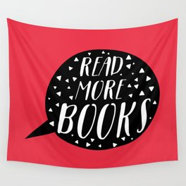 Read More Books (Speech Bubble Red) Wall Tapestry