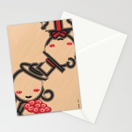 Lovely Couple in 4 Colours Stationery Cards