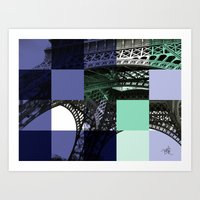 eiffel Art Prints featuring EIFFEL by Marcela Solana