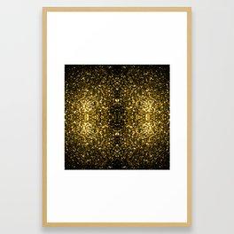 Beautiful Yellow Gold sparkles Framed Art Print