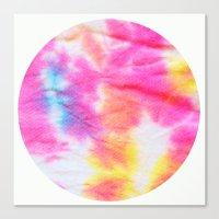 tie dye Canvas Prints featuring Tie Dye  by Lara Gurney