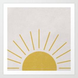 Mid Century Sun Art Print