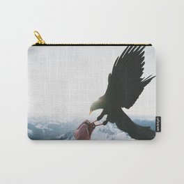 BLACK BIRD ON PERSON LEFT HAND Carry-All Pouch