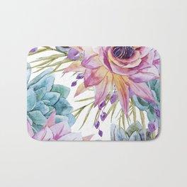 FLOWERS WATERCOLOR 19 Bath Mat