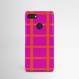 Alium 3 - Delayed Color Contrast Optical Illusion Grid Android Case