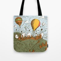 balloons Tote Bags featuring BALLOONS by Matthew Taylor Wilson
