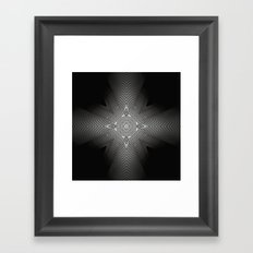 The combination of a situation. Framed Art Print